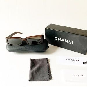 CHANEL SUNGLASSES quilted brown 5046 sunglasses